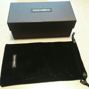 Dolce and Gabbana Sunglass box and dust bag